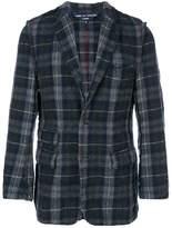 Comme Des Garçons Pre-Owned tartan fitted blazer