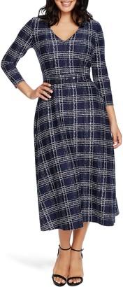 Chaus Brushstroke Print Midi Dress