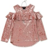 Xtraordinary Big Girls 7-16 Cold-Shoulder Crushed Velvet Top