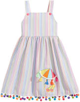 Good Lad Pom-Pom Trim Sun Dress, Little Girls