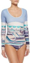 Cover UPF 50 Long-Sleeve Graphic One-Piece Swimsuit