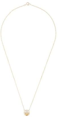 Natalie Marie 9kt yellow gold quartz Mica necklace
