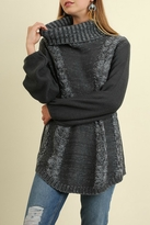 Umgee USA Crochet Turtle Neck Sweater