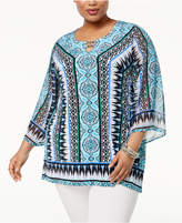 JM Collection Plus Size Embellished Tunic, Created for Macy's
