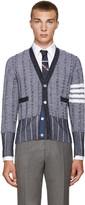 Thom Browne Navy Wool Cardigan