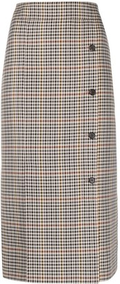 Victoria Victoria Beckham Check-Pattern Pencil Skirt