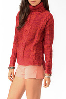 Forever 21 Two-Toned Turtleneck Sweater