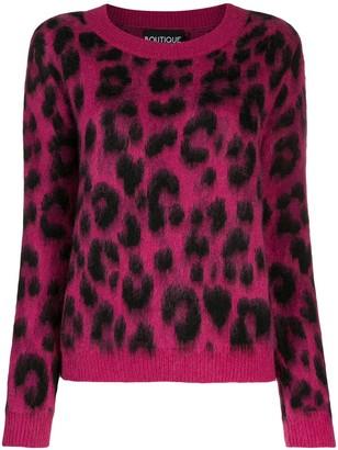 Moschino leopard print jumper