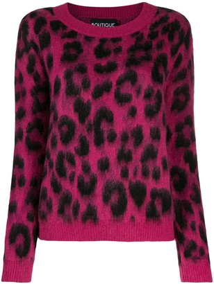 Boutique Moschino Leopard Print Jumper