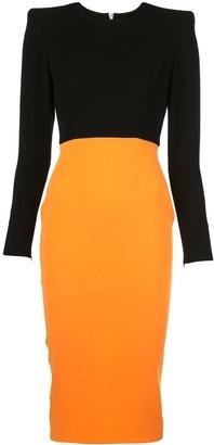 Alex Perry Darley two-tone dress
