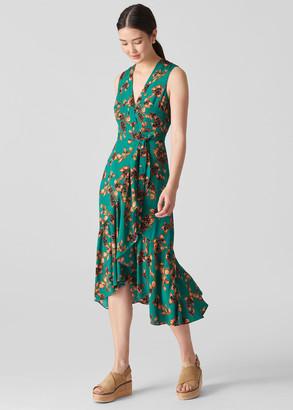 Capri Print Wrap Dress
