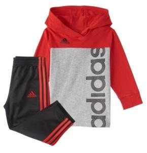 adidas Toddler Boys Color block Hood Top Pants