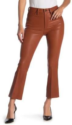 Joe's Jeans Crop Stretch Leather Pants