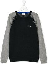 Armani Junior contarst sweater