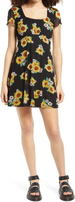 La La Land Creative Co Floral Mesh Minidress