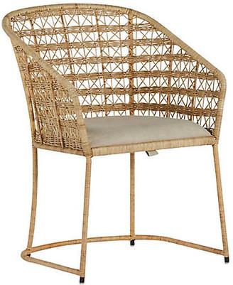 Gabby Lambert Dining Chair - Natural Rattan