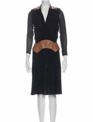 Gianni Versace Vintage Midi Length Dress Black