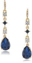 Carolee Blue Note Stone Drop Earrings