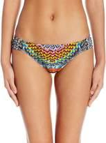 Jessica Simpson Women's Dakota Placement Side Shirred Hipster Bikini Bottom