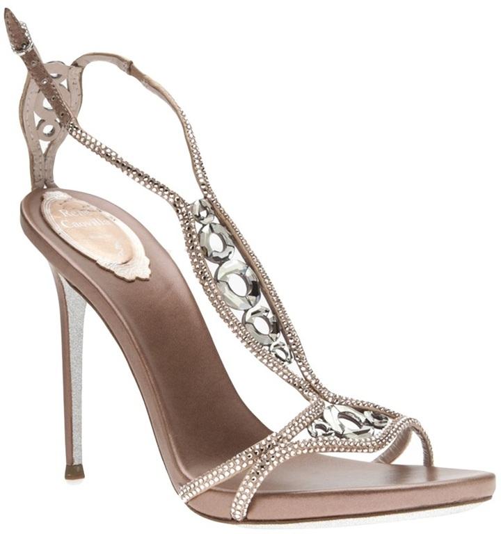 Rene Caovilla crystal embellished sandal