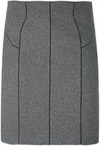 Thierry Mugler straight skirt - women - Polyamide/Polyester/Spandex/Elastane/Wool - 38