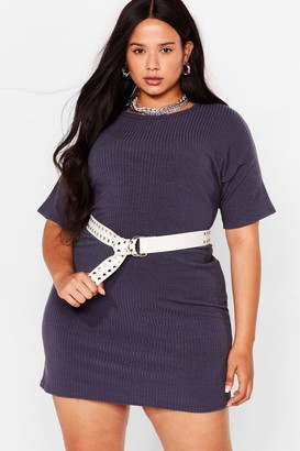 Nasty Gal Womens From Our Perspective Plus Mini Tee Dress - Grey