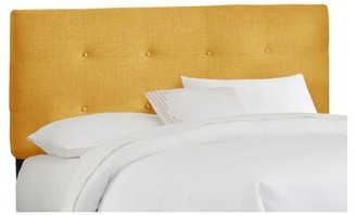 Skyline Furniture Parnell Tufted Upholstered Headboard Size: Twin, Color: French Yellow