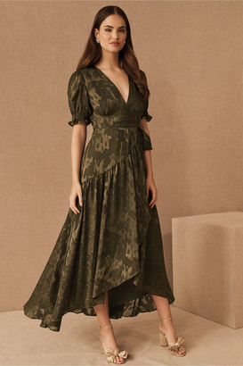 Hutch Biscayne Ruffle Wrap Dress