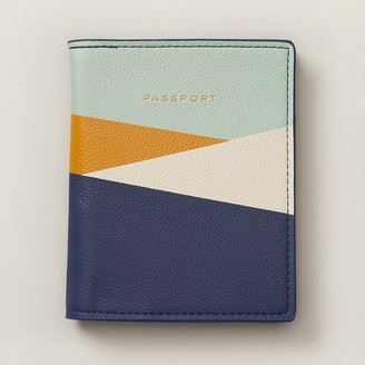 Indigo Love And Lore Colourblock Passport Cover Navy Combo