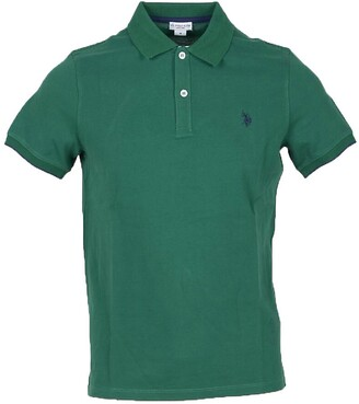 U.S. Polo Assn. Forest Green Pique Cotton Men's Polo Shirt