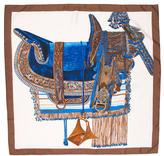 Hermes Selle d'Apparat Marocaine Silk Scarf