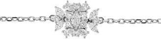 YEPREM 18kt White Gold Square Diamond Pendant Choker Necklace
