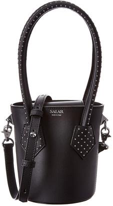 Salar Milano Celia Dots Leather Bucket Bag