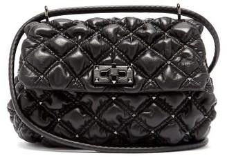 Valentino Rockstud Medium Quilted-leather Shoulder Bag - Black