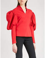 Osman Karcy princess-sleeve crepe top