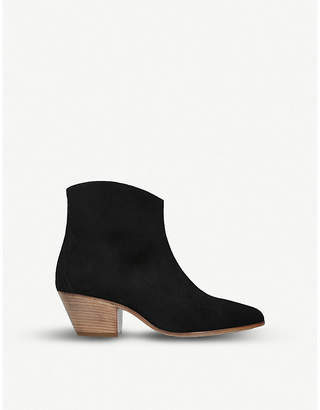 Isabel Marant Dacken cuban-heel suede ankle boots