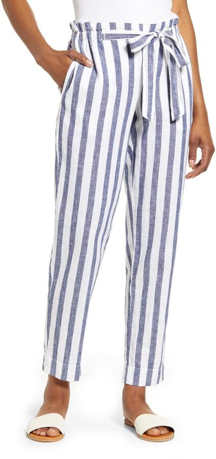 0e264be363 Grey And White Stripe Pants - ShopStyle