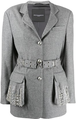 Ermanno Scervino Embellished Pockets Jacket