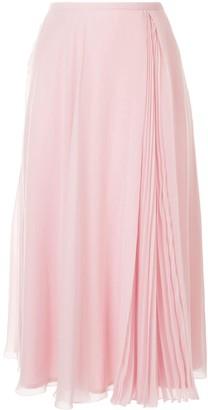 Paule Ka Pleated Panel Skirt