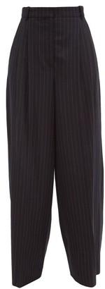 Joseph Tima Pinstriped Wool-blend Wide-leg Trousers - Navy