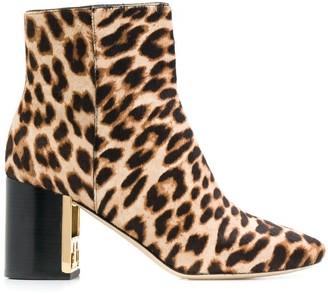 Tory Burch Gigi leopard print boots