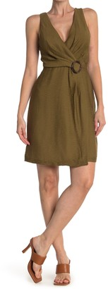 Joie Viara O-Ring Belted Wrap Dress