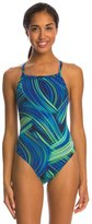 Speedo Endurance+ Turbo Stroke Drop Back One Piece Swimsuit 8146368