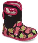 Bogs Toddler Boy's Baby Classic Owls Insulated Waterproof Boot