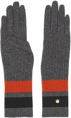 Burberry Monogram-motif striped gloves
