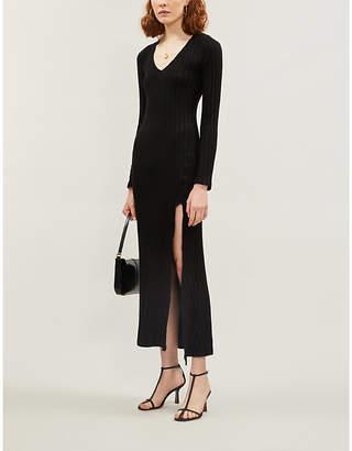 Reformation Mango V-neck knitted maxi dress