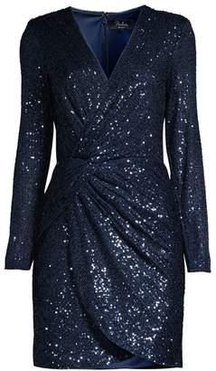 Parker Black Philipa Sequin Twist-Front Dress