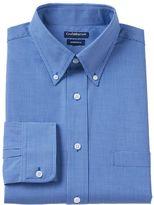 Croft & Barrow Men's Slim-Fit Checked Broadcloth Dress Shirt