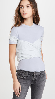Unravel Project Viscose Stretch Wrap T-Shirt