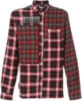 Lanvin patchwork plaid shirt